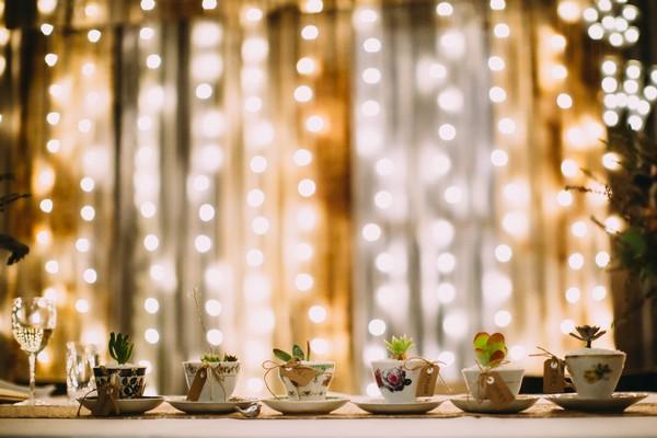 Row of teacups