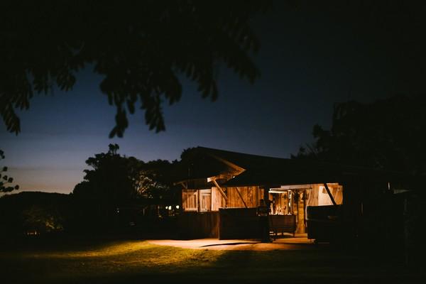 Yandina Station dairy barn at night