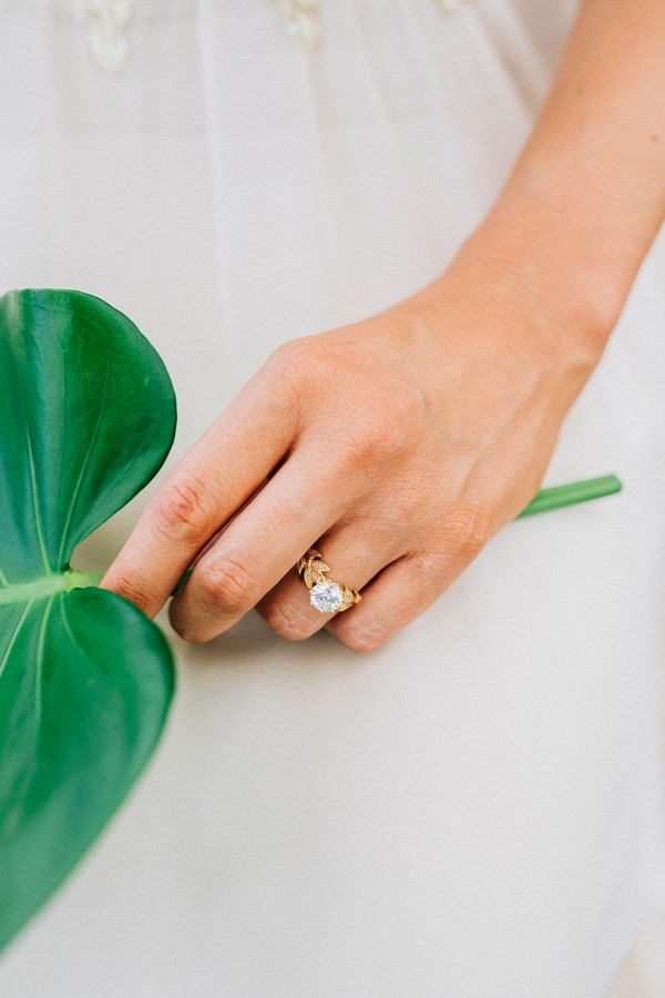 Ring on bride's finger