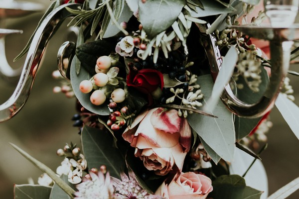 Roses and foliage