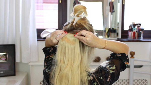Applying Clip-In Hair Extensions