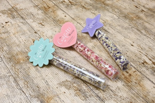 Confetti Wands from Shropshire Petals - Three Designs