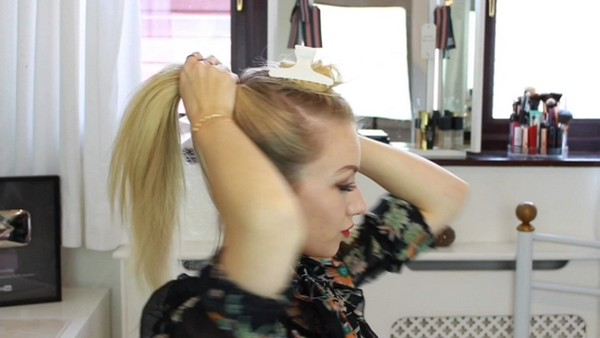 Creating a High Ponytail
