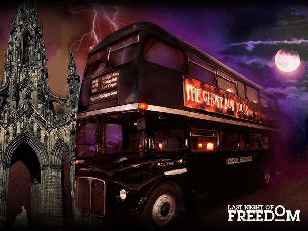 Ghost Bus Tour in Edinburgh Halloween Hen Party or Stag Do Idea