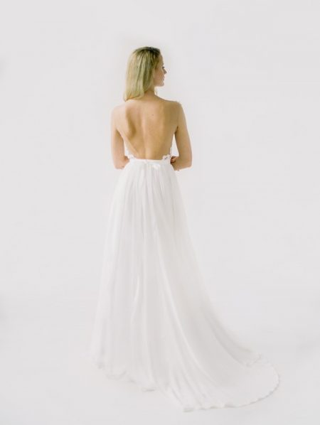 Back of Julie Wedding Dress from the Truvelle 2018 Collection