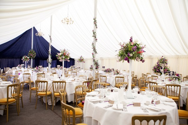 Wedding Marquee Decorated with Flowers