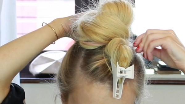 Wrapping Hair Into a Bun