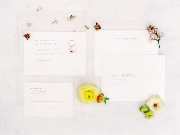 Modern Romantic wedding stationery
