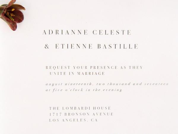 Wedding typeface