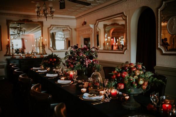 Georgian wedding table styling