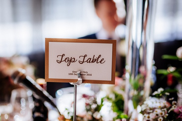 Top table sign