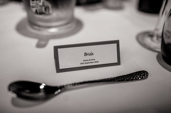 Bride place card