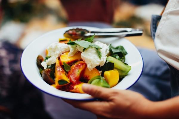 Bowl of vegetables for wedding breakfast