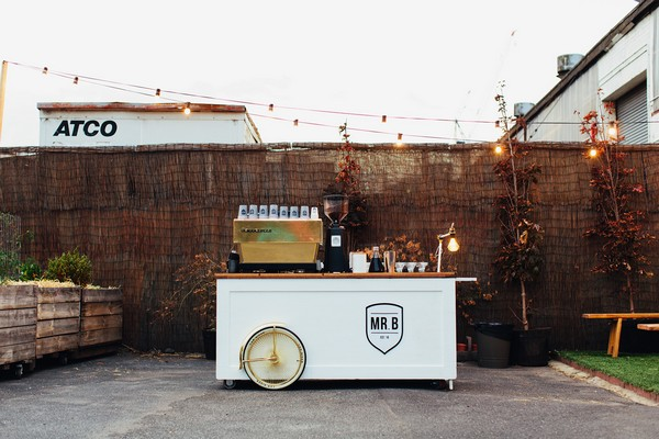 Coffee cart at wedding