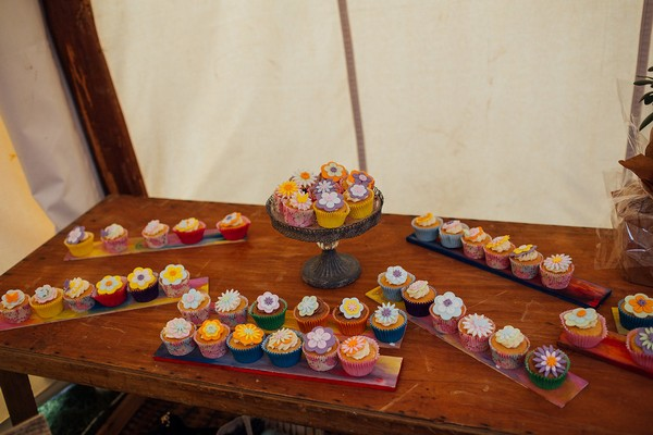 Table of wedding cupcakes