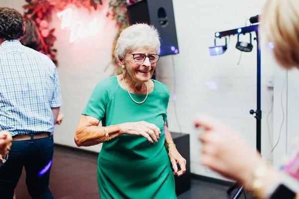 Lady dancing at wedding