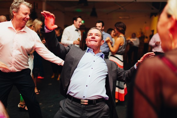 Man dancing at wedding