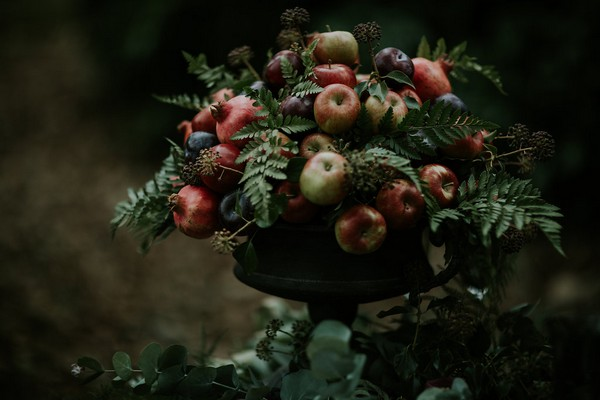 Fruit and foliage floral display