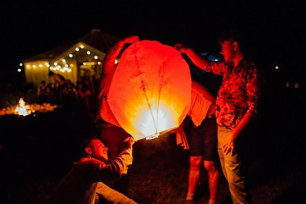 Lighting Chinese lantern