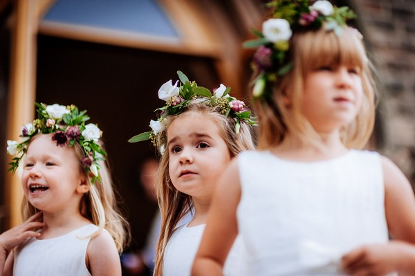 Flower girls with flower crowns
