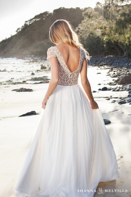 Back of Addison Wedding Dress from the Shanna Melville 2018 Bridal Collection