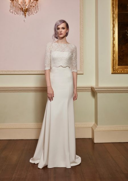 Adore Top with Serene Gown from the Jenny Packham 2018 Bridal Collection