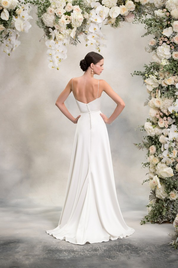 Back of Amber Wedding Dress from the Anna Georgina Inca Lily 2018 Bridal Collection