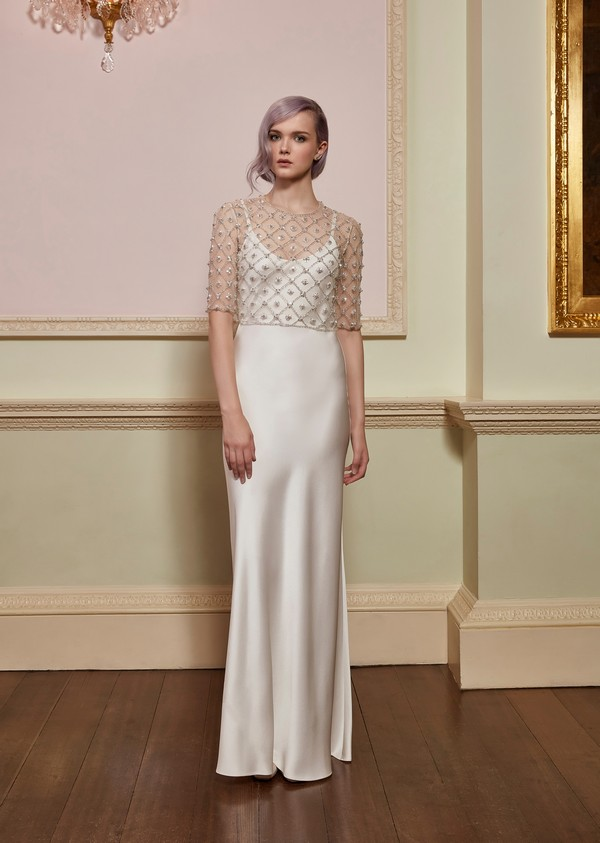 Angel Top with Allegra Slip from the Jenny Packham 2018 Bridal Collection