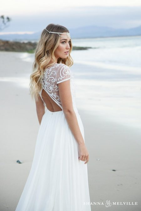 Back of Bella Wedding Dress from the Shanna Melville 2018 Bridal Collection