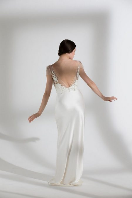 Back of Blossom Top with Iris Slip from the Halfpenny London The Garden After the Rain 2018 Bridal Collection