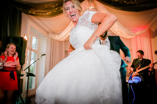 Bride Enjoying Dancing at Wedding