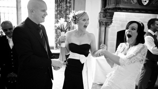 Bride Shocked by Magic Trick