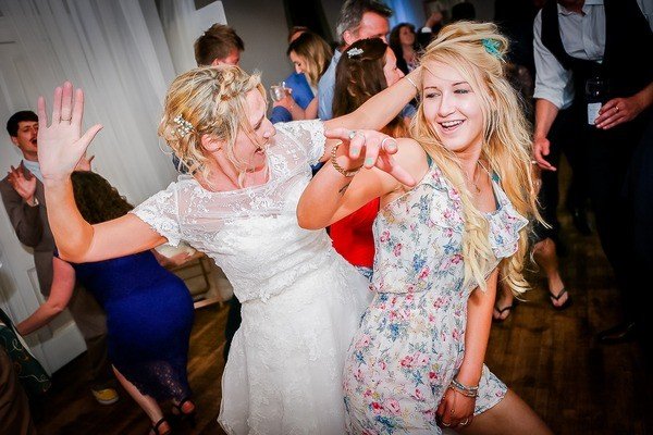 Bride and Guest Dancing