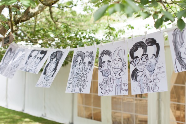 Caricatures of Wedding Guests