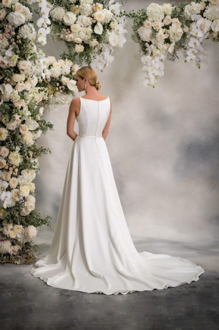 Back of Catherine Wedding Dress from the Anna Georgina Inca Lily 2018 Bridal Collection