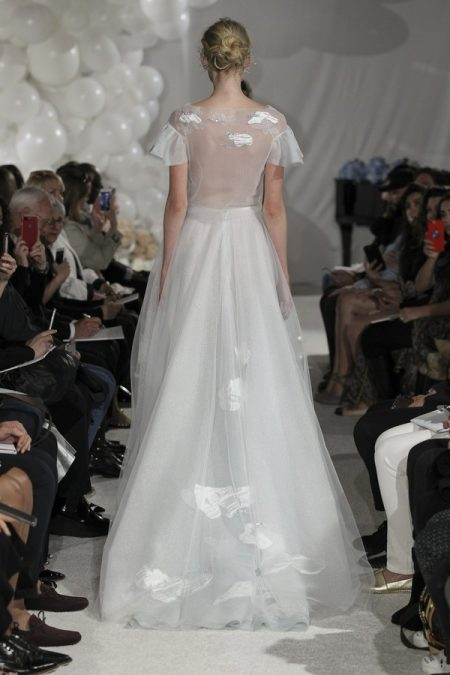 Back of Celeste Wedding Dress from the Mira Zwillinger Over the Rainbow 2018 Bridal Collection