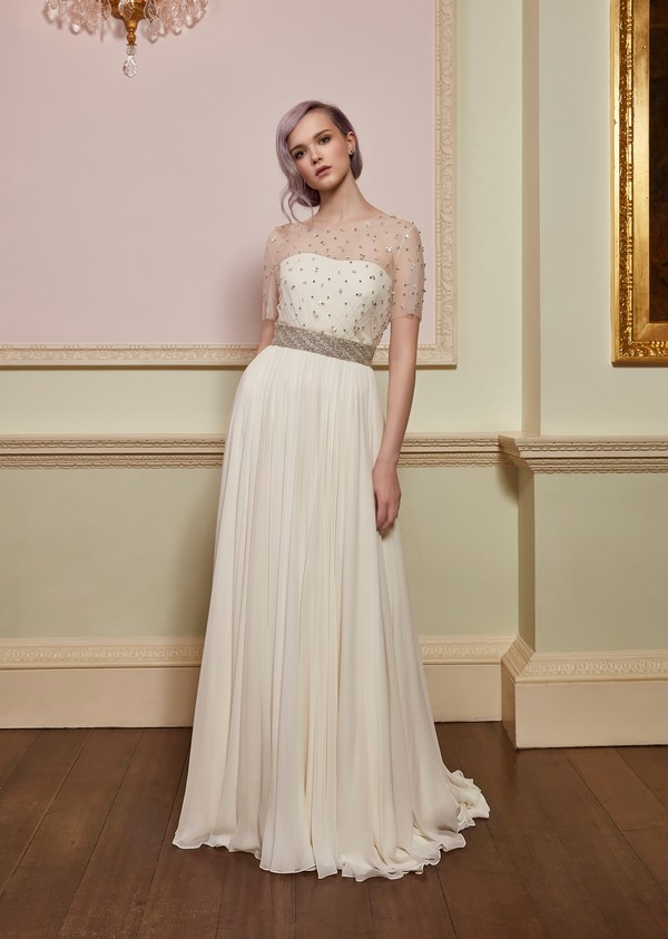 Chance Wedding Dress with Bella Top and Magic Belt from the Jenny Packham 2018 Bridal Collection