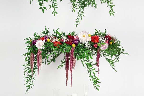 DIY Tutorial: How to Make a Flower Chandelier for Your Wedding
