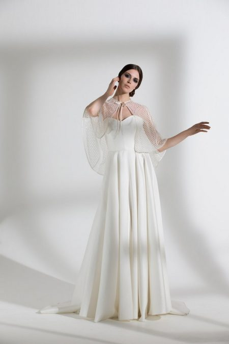 Ellie Wedding Dress with Honeysuckle Cape from the Halfpenny London The Garden After the Rain 2018 Bridal Collection