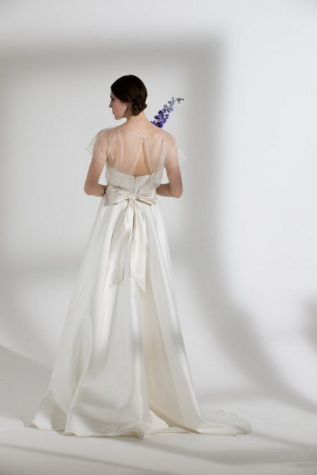 Back of Ellie Wedding Dress with Poppy Tee from the Halfpenny London The Garden After the Rain 2018 Bridal Collection