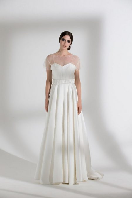 Ellie Wedding Dress with Poppy Tee from the Halfpenny London The Garden After the Rain 2018 Bridal Collection