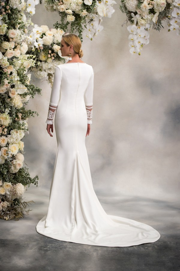 Back of Esther Wedding Dress from the Anna Georgina Inca Lily 2018 Bridal Collection
