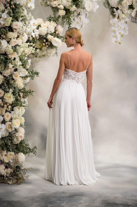 Back of Eva Top with Nicole Skirt from the Anna Georgina Inca Lily 2018 Bridal Collection