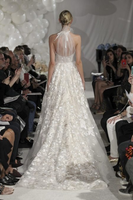 Back of Florence Wedding Dress from the Mira Zwillinger Over the Rainbow 2018 Bridal Collection