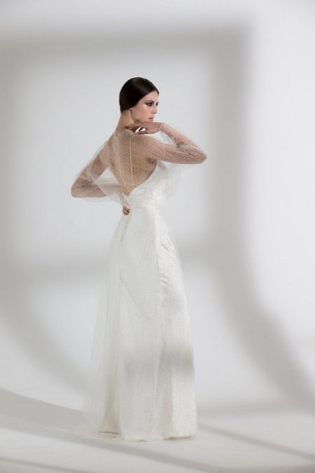 Back of Gladioli Skirt and Top with Iris Slip from the Halfpenny London The Garden After the Rain 2018 Bridal Collection