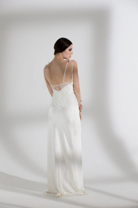 Back of Heather Top with Iris Slip from the Halfpenny London The Garden After the Rain 2018 Bridal Collection
