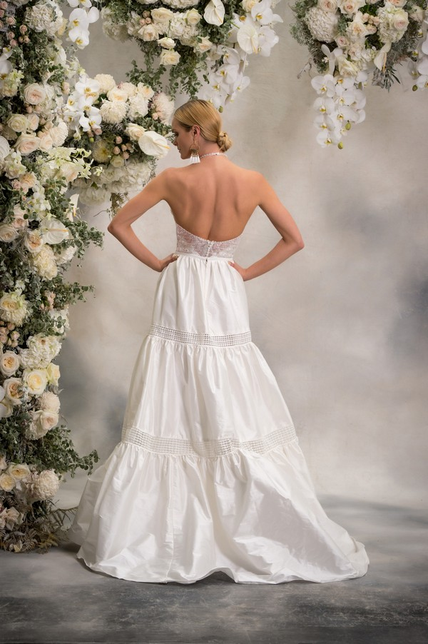 Back of Honey Top with Lizzie Skirt from the Anna Georgina Inca Lily 2018 Bridal Collection