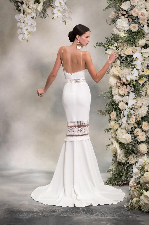Back of Lauren Wedding Dress from the Anna Georgina Inca Lily 2018 Bridal Collection