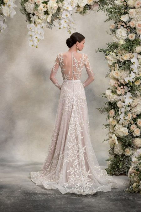 Back of Louise Top and Skirt from the Anna Georgina Inca Lily 2018 Bridal Collection