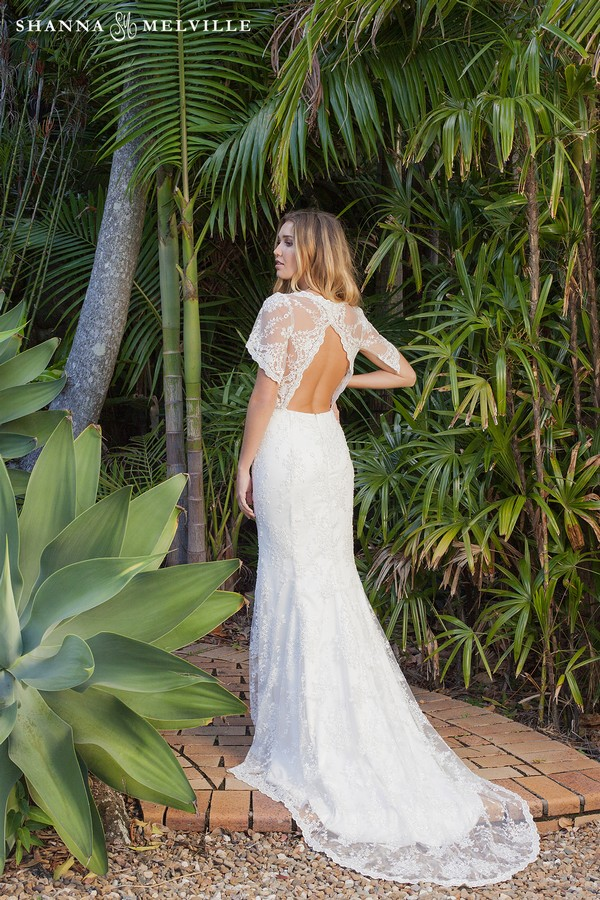 Back of Mabel Wedding Dress from the Shanna Melville 2018 Bridal Collection